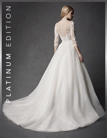Hera aline wedding dress dress back Signature th