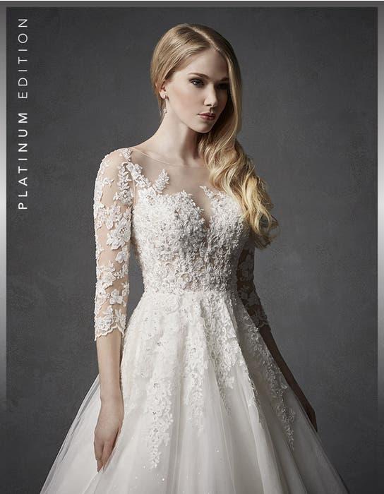 Hera aline wedding dress dress crop front Signature
