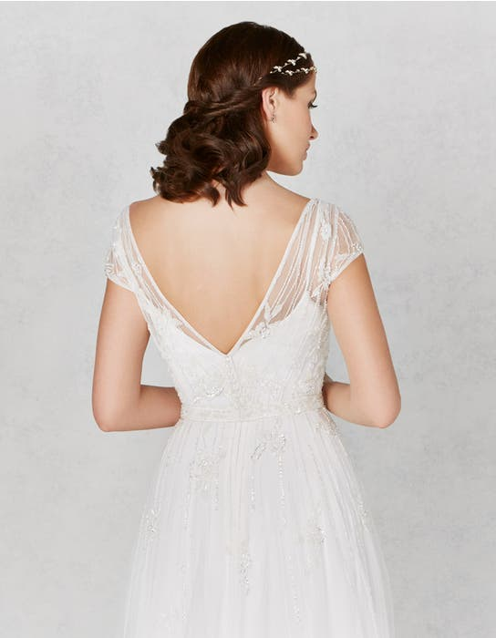 Hetty aline wedding dress back crop Heidi Hudson