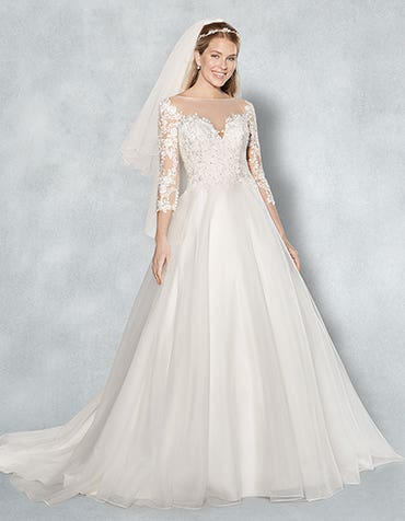Holly aline wedding dress front Viva Bride th