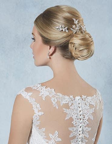 Honey bridal hair pins crop back Amixi th