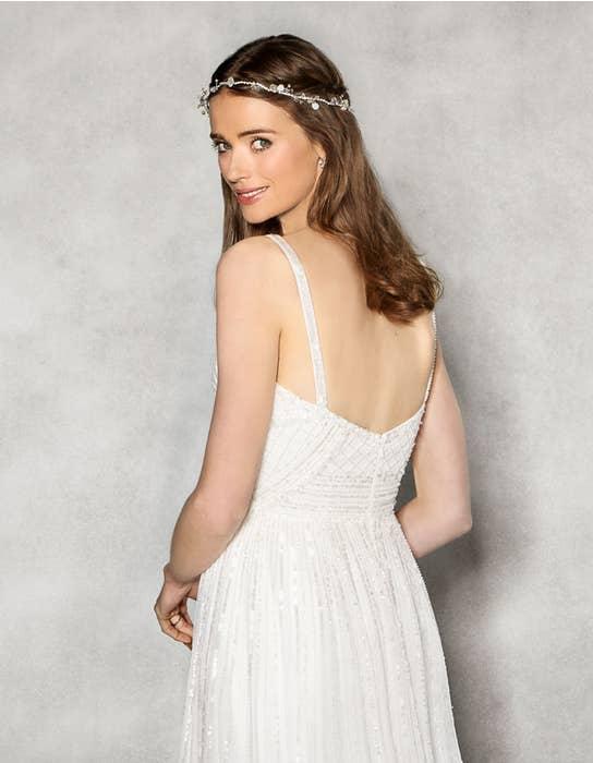 Hope aline wedding dress crop back Heidi Hudson