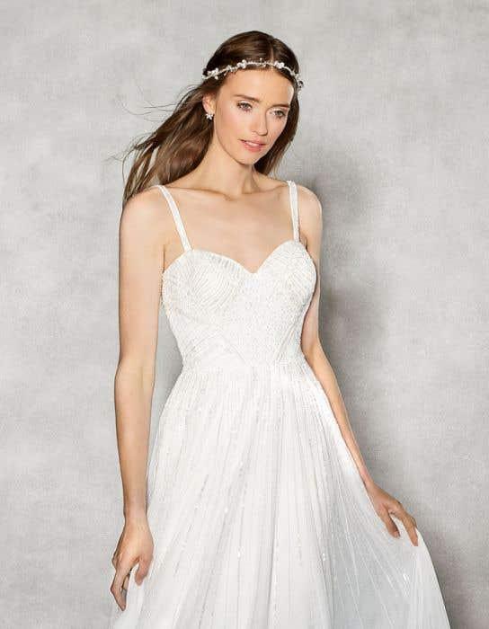 Hope aline wedding dress crop front Heidi Hudson