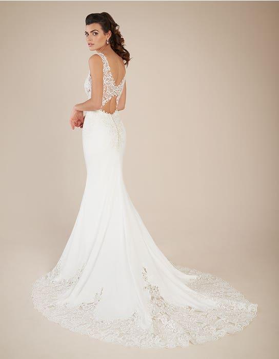 Houston sheath wedding dress back Signature