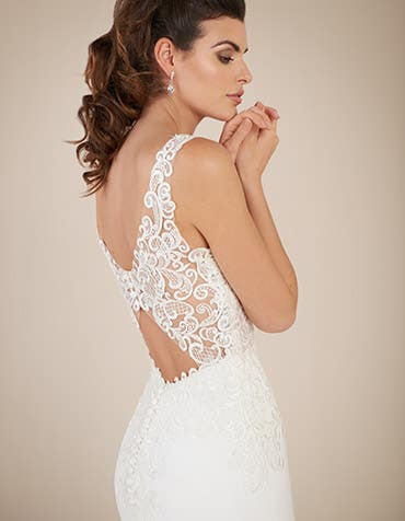 Houston sheath wedding dress back crop Signature th