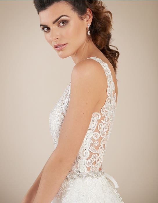 Houston sheath wedding dress crop back Signature