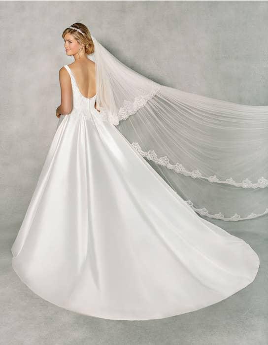 Isabella ballgown wedding dress back Anna Sorrano