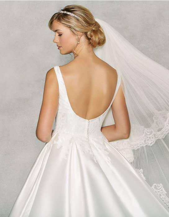 Isabella ballgown wedding dress back crop Anna Sorrano