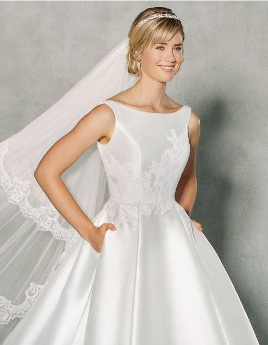 Isabella ballgown wedding dress front crop Anna Sorrano