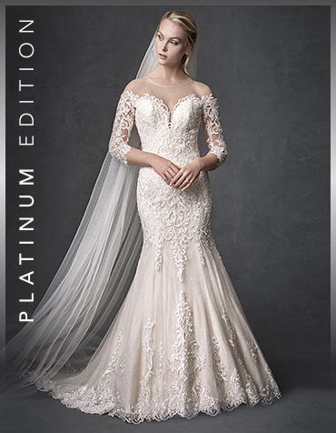 Jackson sheath wedding dress front The Signature Collection thumbnail