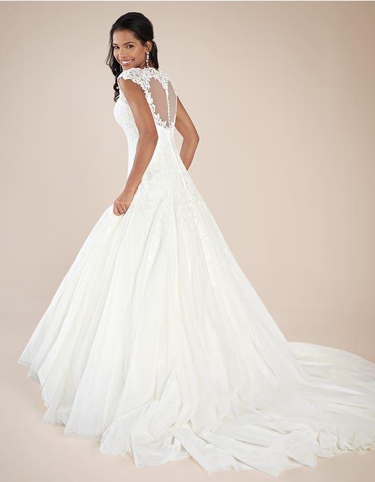 Jamie fit _ flare wedding dress back Viva Bride