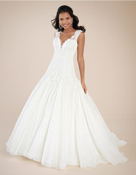 Jamie fit _ flare wedding dress front Viva Bride