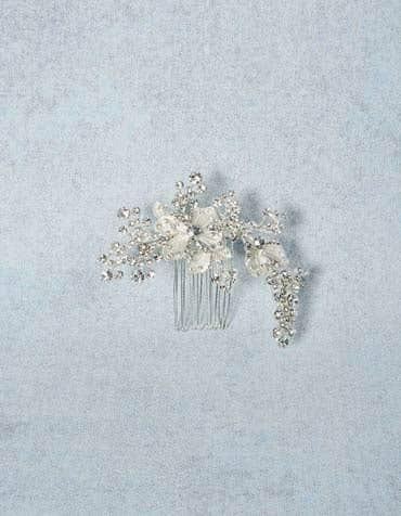 Jasmine bridal hair comb detail Amixi th