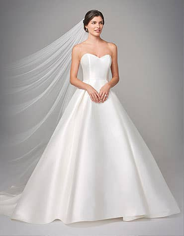 Jayne ballgown wedding dress front Anna Sorrano thumbnail