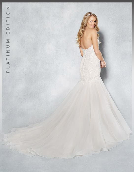 Jordana fishtail wedding dress back Viva Bride