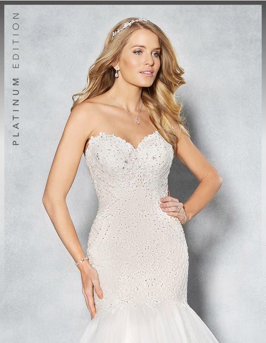 Jordana fishtail wedding dress crop front Viva Bride