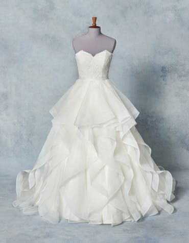 Karlie bridal overskirt front Amixi th