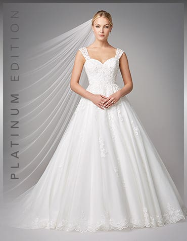 Karolina Ballgown wedding dress front Anna Sorrano th