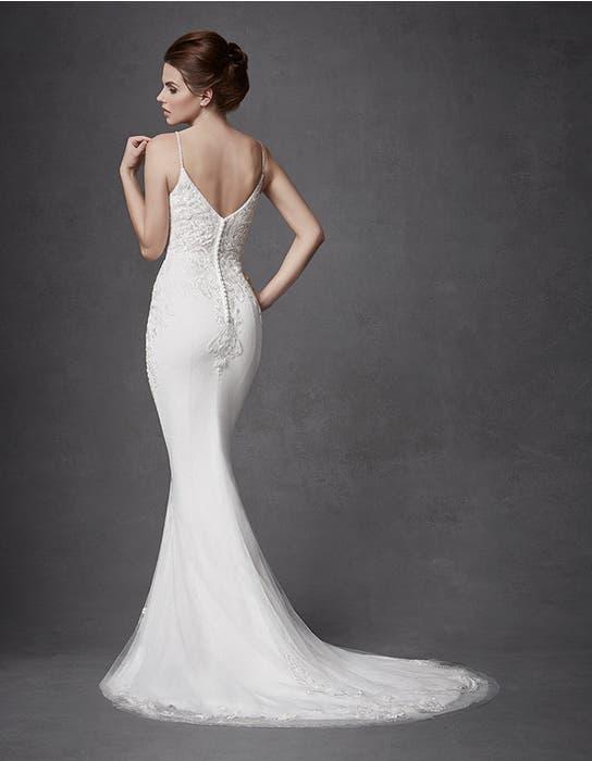 Keegan sheath wedding dress back Signature
