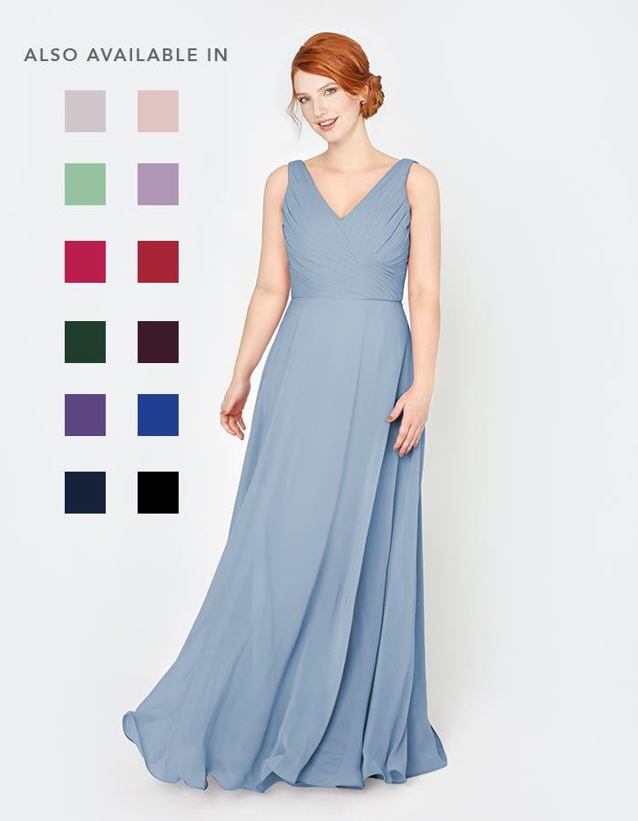 Laila light blue bridesmaids dress front Infinite th