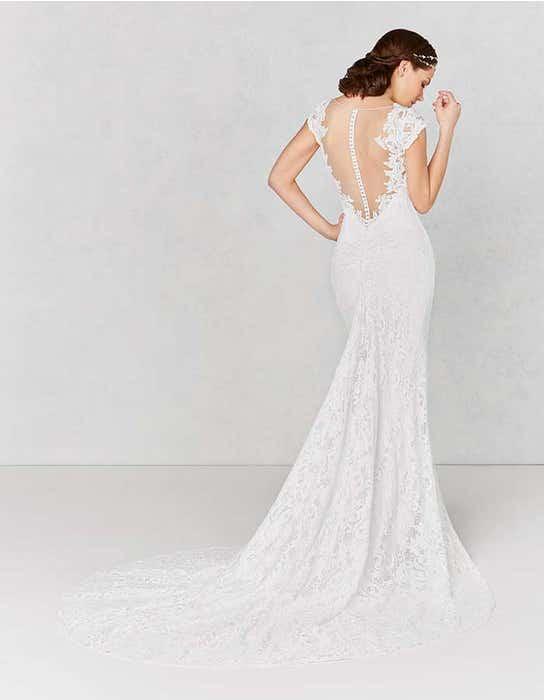 Lainey sheath wedding dress back Heidi Hudson
