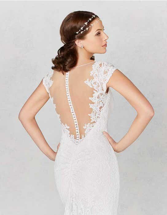 Lainey sheath wedding dress crop back Heidi Hudson