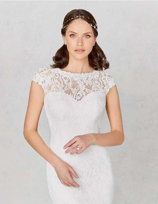 Lainey sheath wedding dress crop front Heidi Hudson