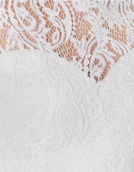 Lainey sheath wedding dress detail Heidi Hudson