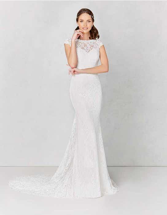 Lainey sheath wedding dress front Heidi Hudson