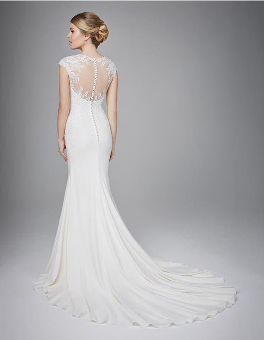 Lanelle sheath wedding dress back Anna Sorrano