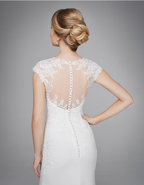 Lanelle sheath wedding dress back crop Anna Sorrano