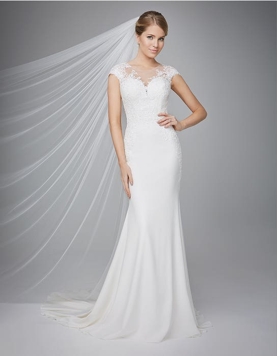 Lanelle sheath wedding dress front Anna Sorrano
