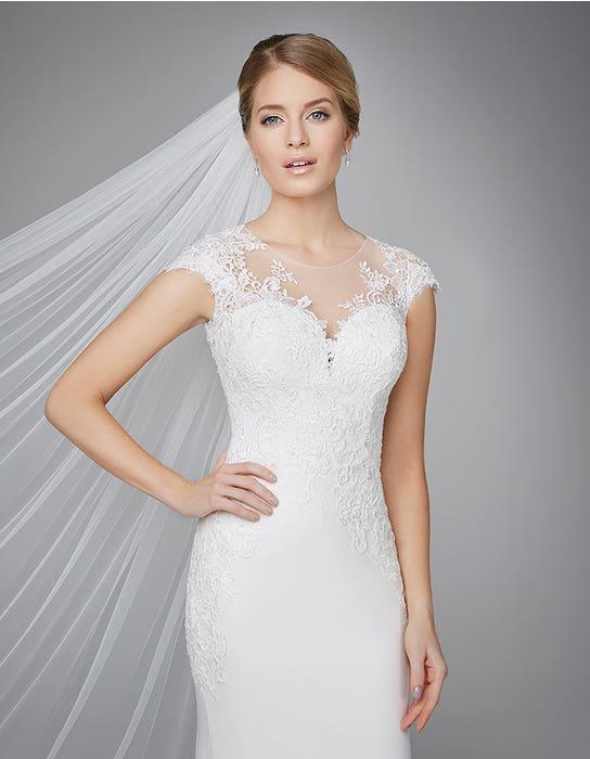 Lanelle sheath wedding dress front crop Anna Sorrano