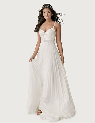 Lark aline wedding dress front Heidi Hudson thumbnail