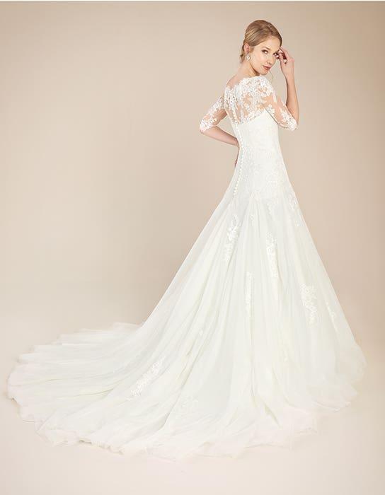 Laurenza fit _ flare wedding dress back Anna Sorrano