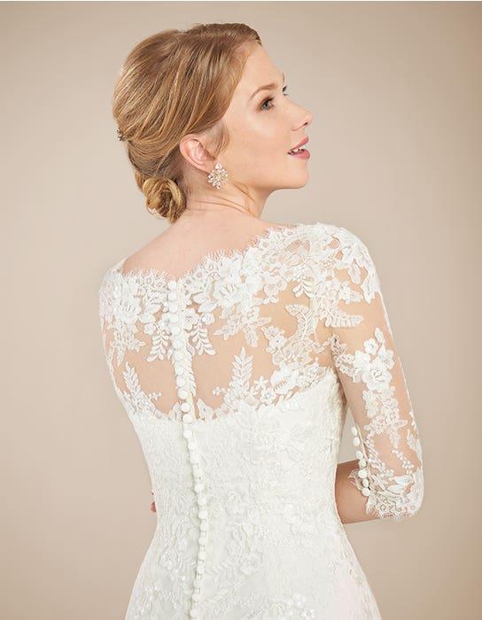 Laurenza fit _ flare wedding dress back crop Anna Sorrano