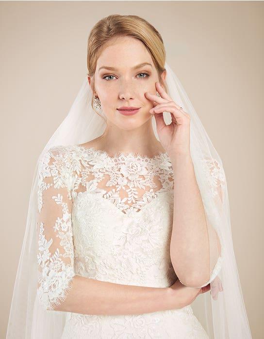 Laurenza fit _ flare wedding dress front crop Anna Sorrano