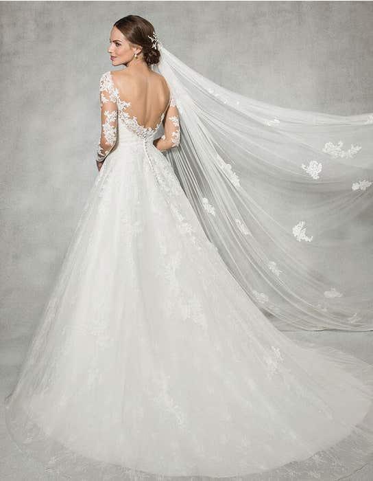 Leah ballgown wedding dress back Anna Sorrano