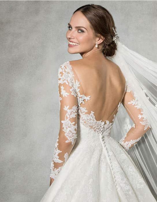 Leah ballgown wedding dress back crop Anna Sorrano