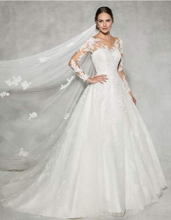 Leah ballgown wedding dress front Anna Sorrano