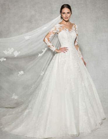 Leah ballgown wedding dress front Anna Sorrano th