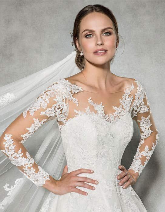 Leah ballgown wedding dress front crop Anna Sorrano