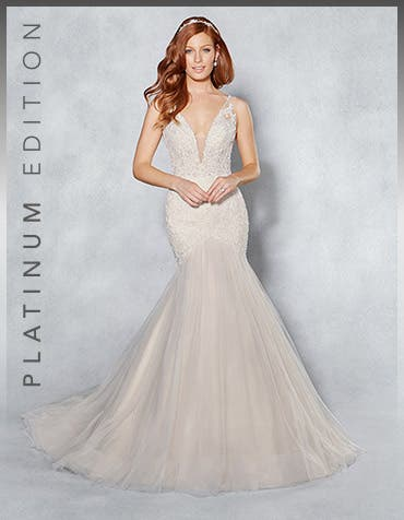 Leilani fishtail wedding dress front Viva Bride th