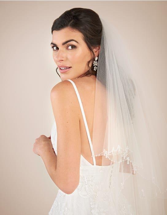 Lennox aline wedding dress back crop Viva Bride