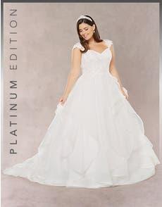 LETITIA - a waterfall ballgown dress