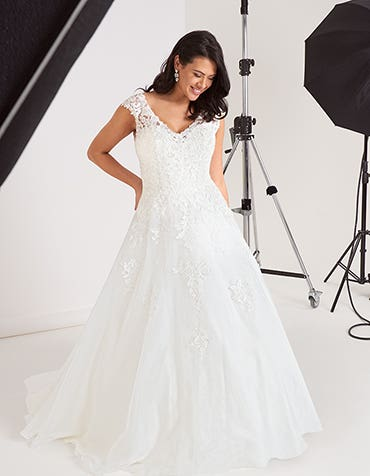 Liana aline wedding dress front edit Viva Bride th