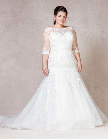 LILLI - Zacht tulle fishtail jurk met lovertjes