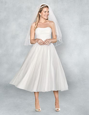 Lola short wedding dress front Viva Bride thumbnail