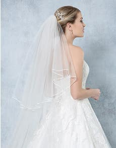 LOULOU - a delicate satin edged veil