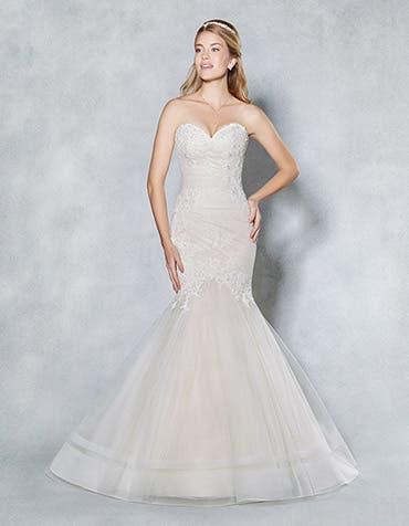 Lucille fishtail wedding dress front Viva Bride th